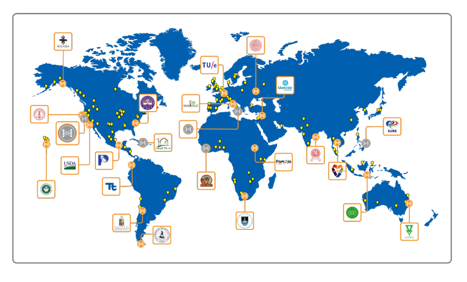 World map showing apl installations