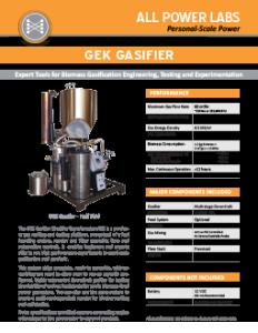 Gek Gasifier Datasheet