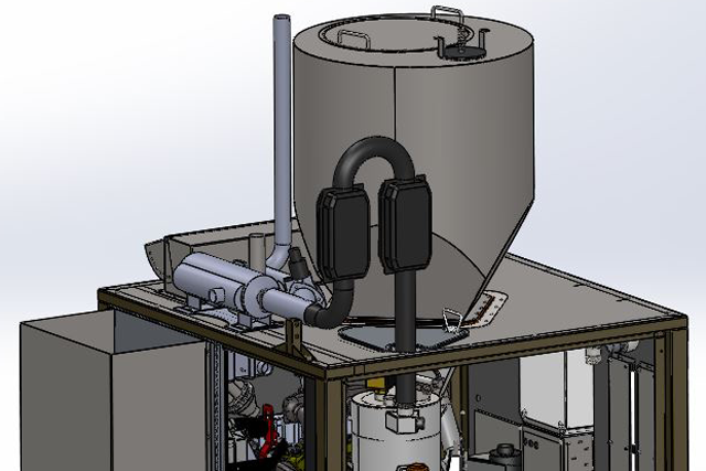 Rendering of CHP option on a PC20 Power Cube