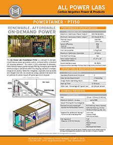 PT 150 Powertainer one sheet