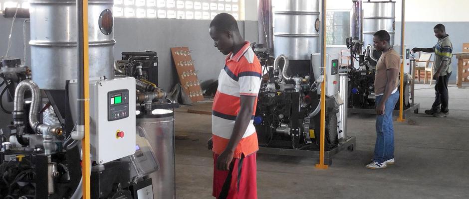 Gasifiers in Liberia