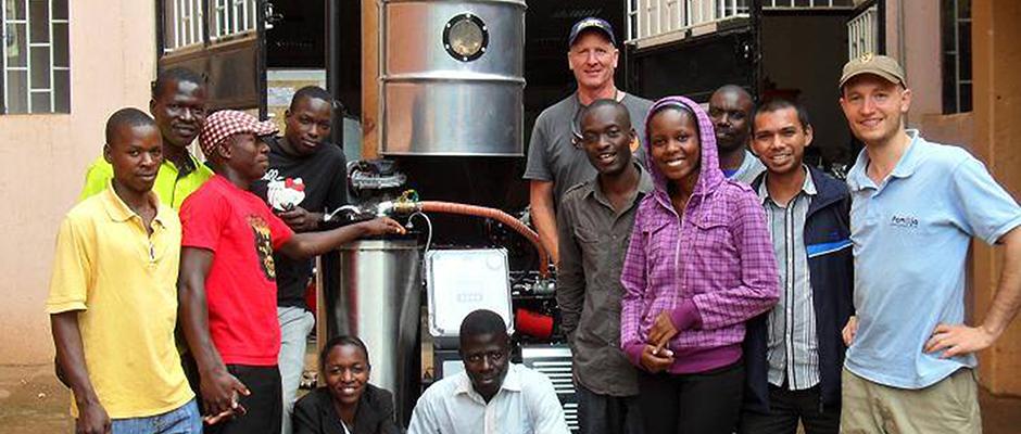 Gasifier at Pamoja in Uganda