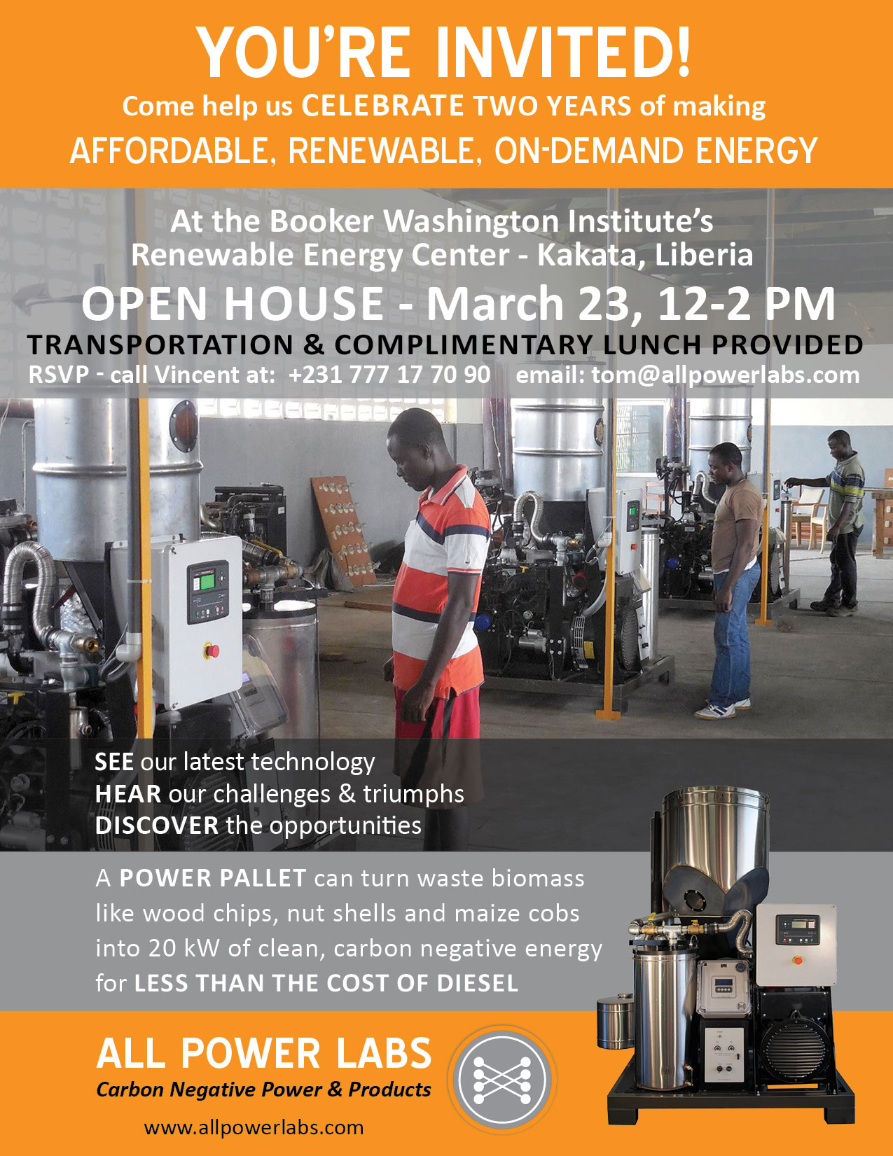 BWI REC open house flyer